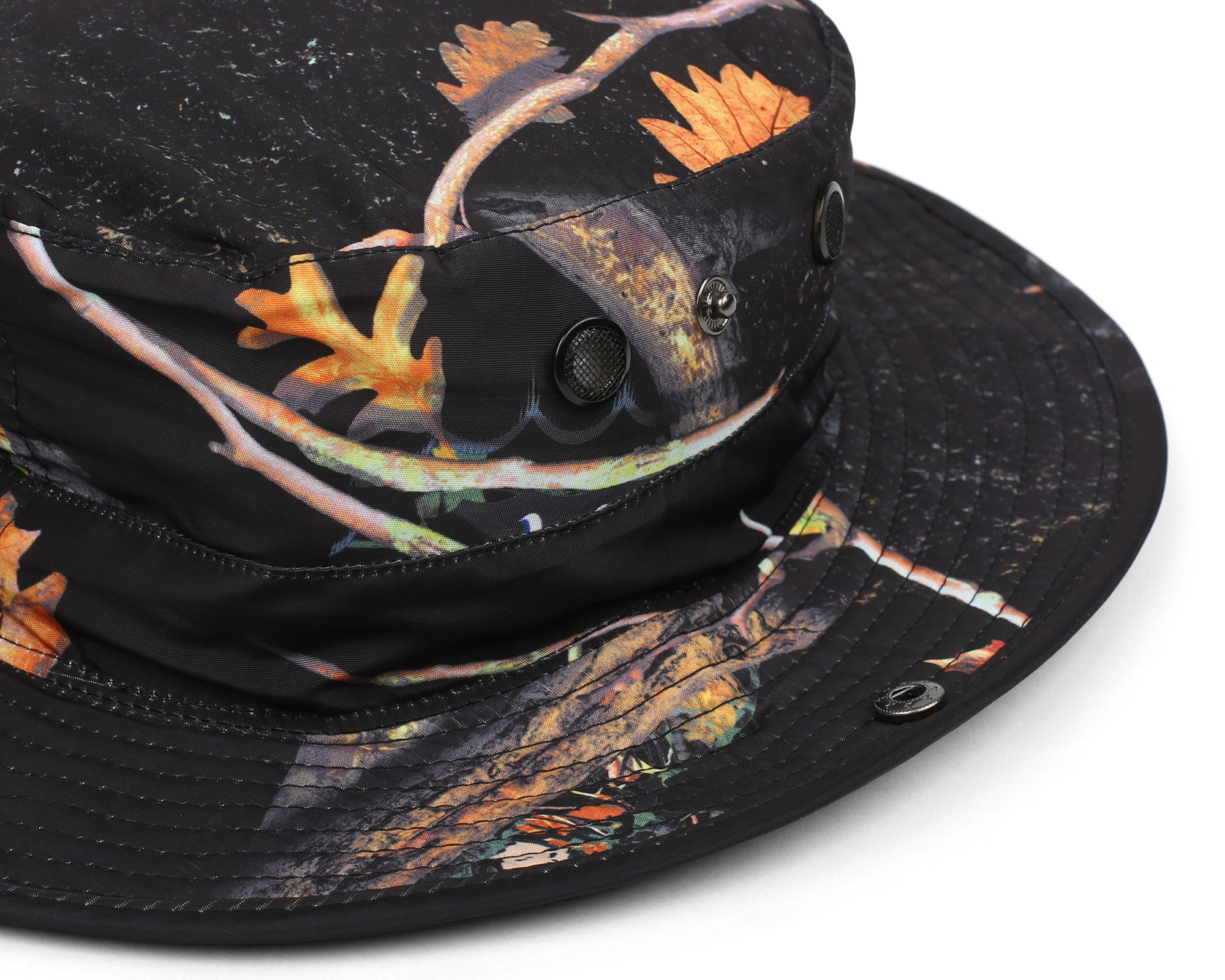 TREE CAMO NYLON BOONIE - BLACK