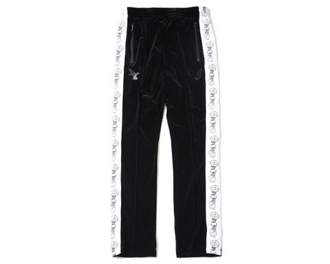 BBC X FDMTL VELOUR TRACK PANTS - BLACK