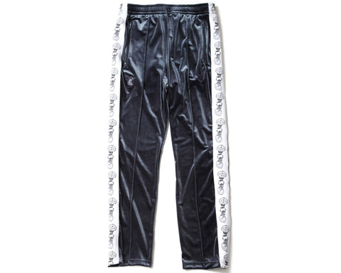 BBC X FDMTL VELOUR TRACK PANTS - CHARCOAL GREY