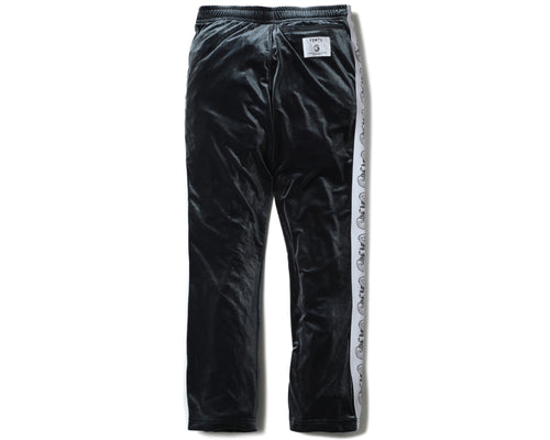 VELOUR TRACK PANTS - CHARCOAL GREY