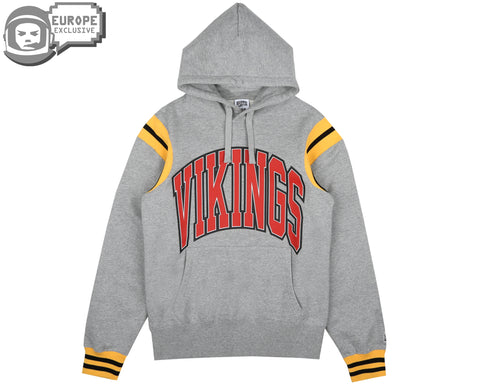 Billionaire Boys Club Fall '18 VIKINGS VARSITY POPOVER HOOD - GREY