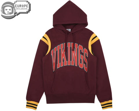 Billionaire Boys Club Fall '18 VIKINGS VARSITY POPOVER HOOD - RED