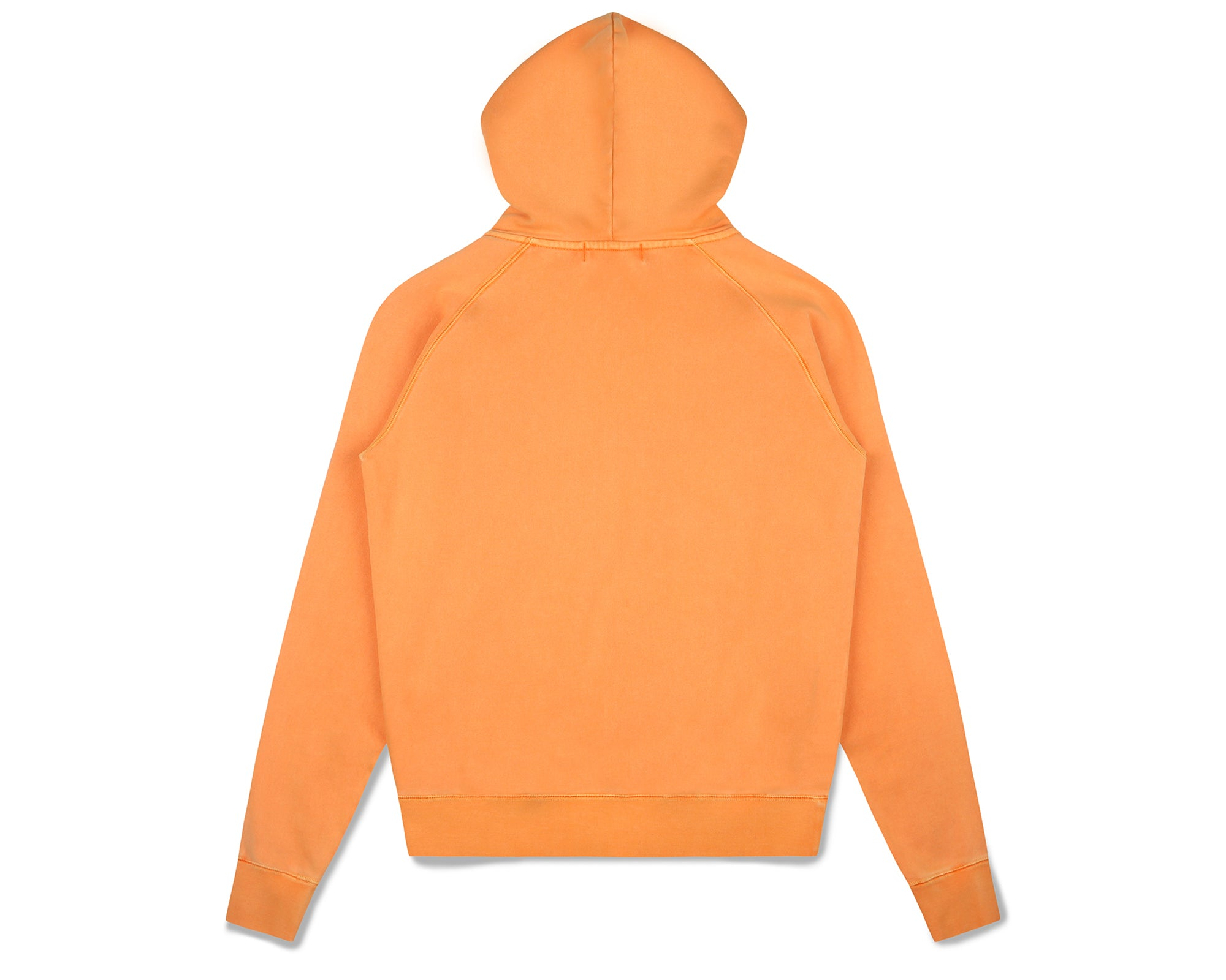 WAFFLE LINED ZIP THROUGH HOOD - ORANGE