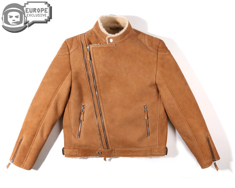 Billionaire Boys Club Pre-Spring '18 WOLFMAN SHEARLING JACKET - TAN