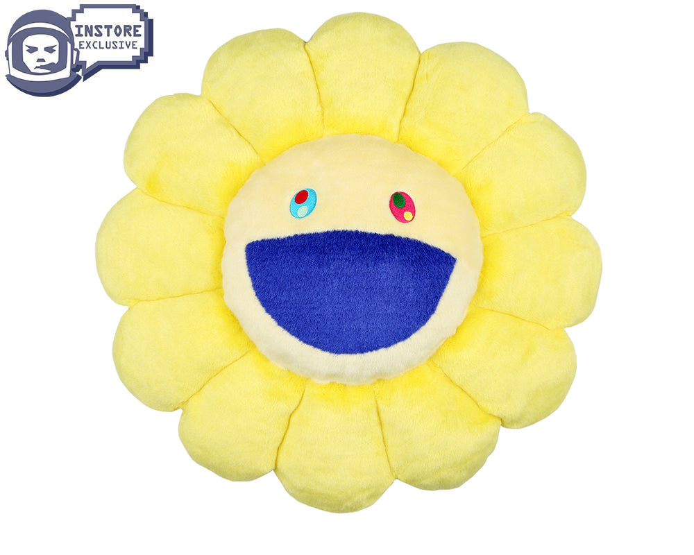 MURAKAMI FLOWER CUSHION 30CM - YELLOW & WHITE