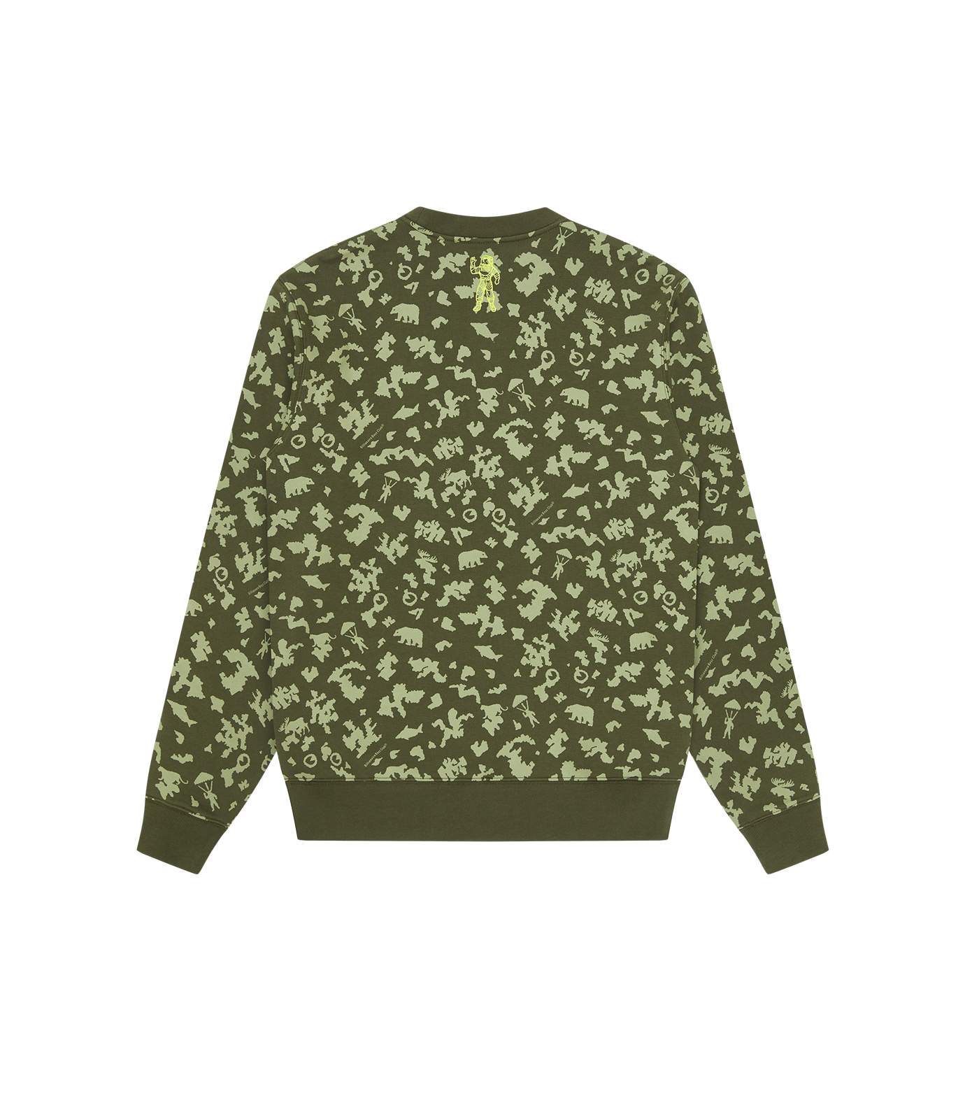 ARCH LOGO ALL OVER PRINT CREWNECK - OLIVE