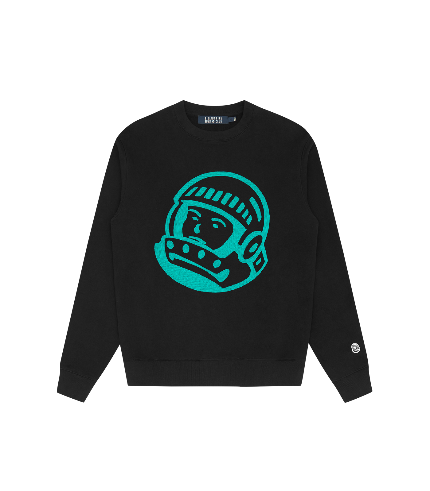 ASTRO EMBROIDERED CREWNECK - BLACK