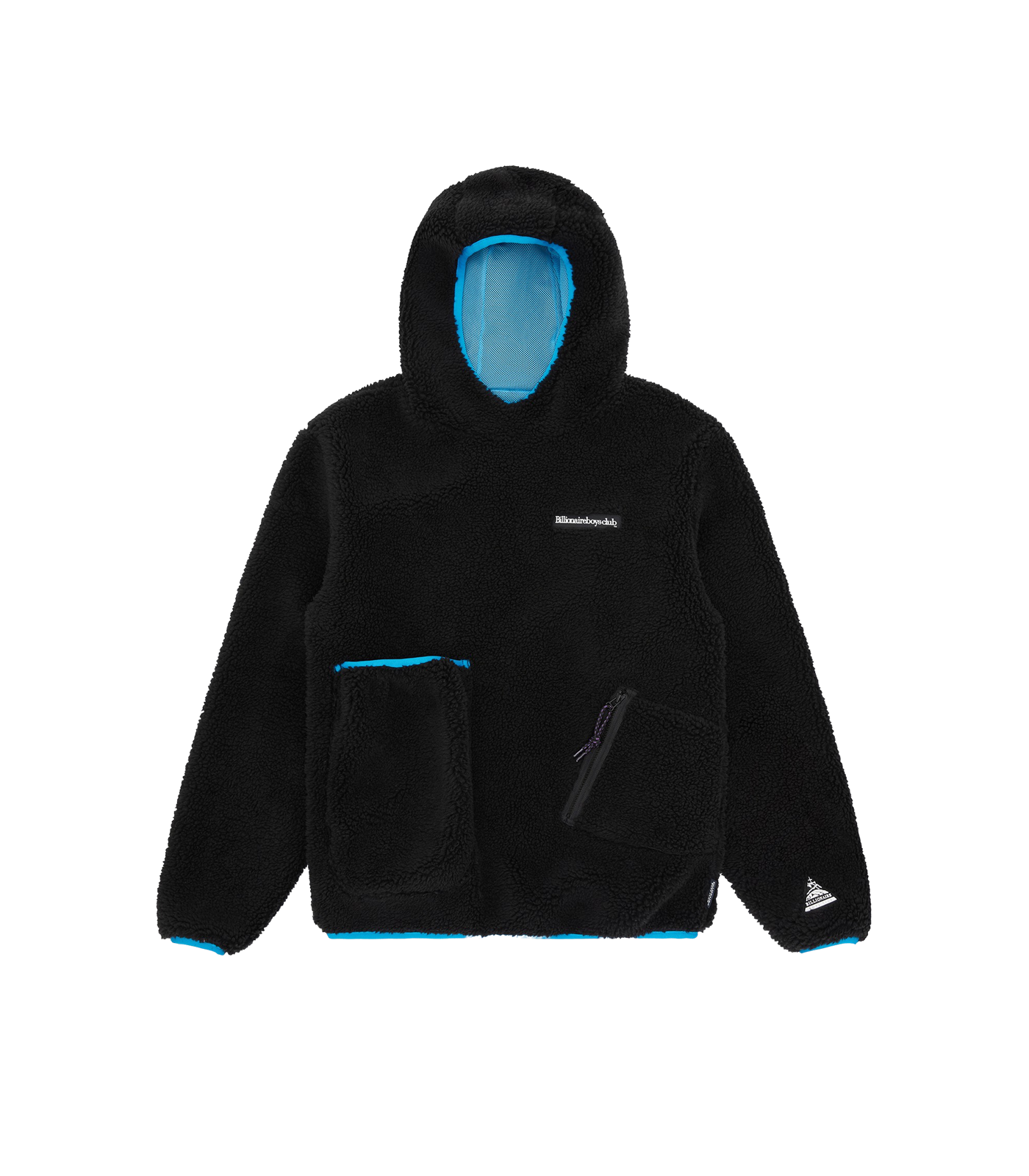 HOODED FLEECE POPOVER - BLACK