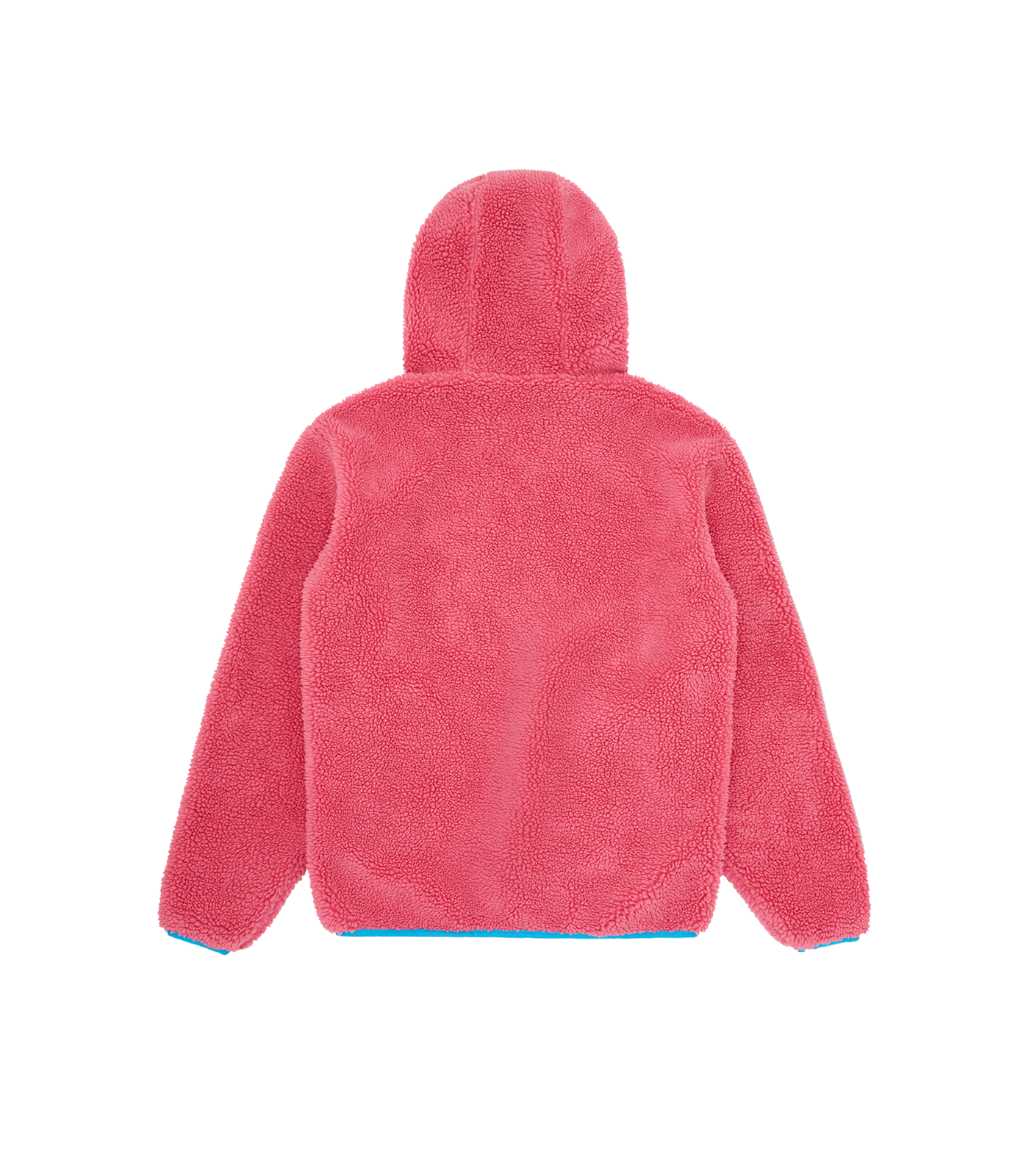 HOODED FLEECE POPOVER - PINK