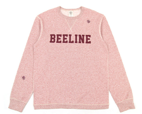 BEE LINE BEE LINE SPECKLED CREWNECK - RED