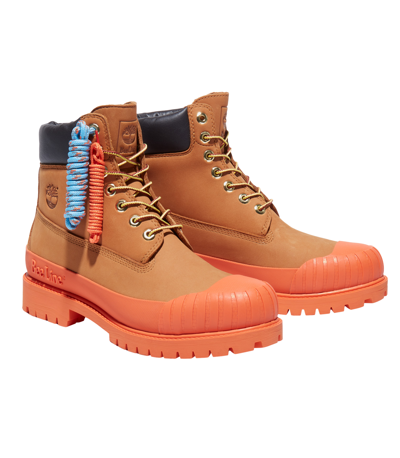 BEE LINE & TIMBERLAND 6-INCH RUBBER TOE BOOT - ORANGE