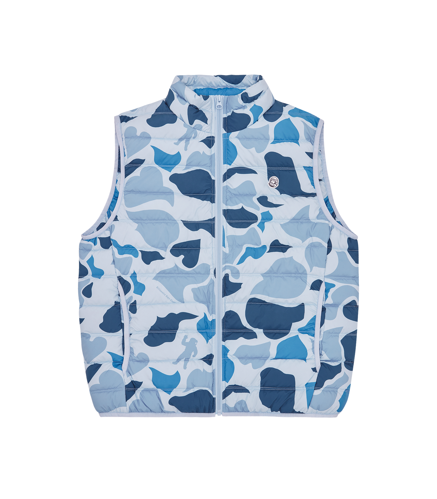 CAMO LIGHTWEIGHT DOWN VEST - BLUE CAMO