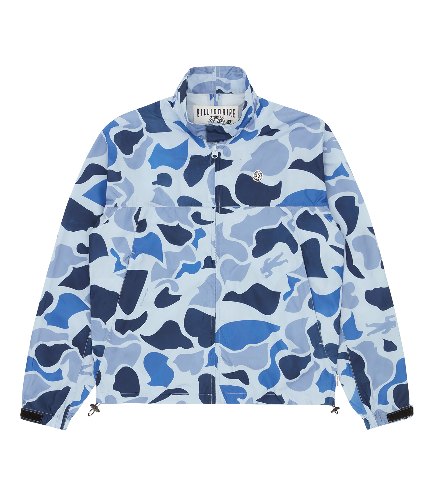 LIGHTWEIGHT NYLON SPORTS JACKET - BLUE CAMO