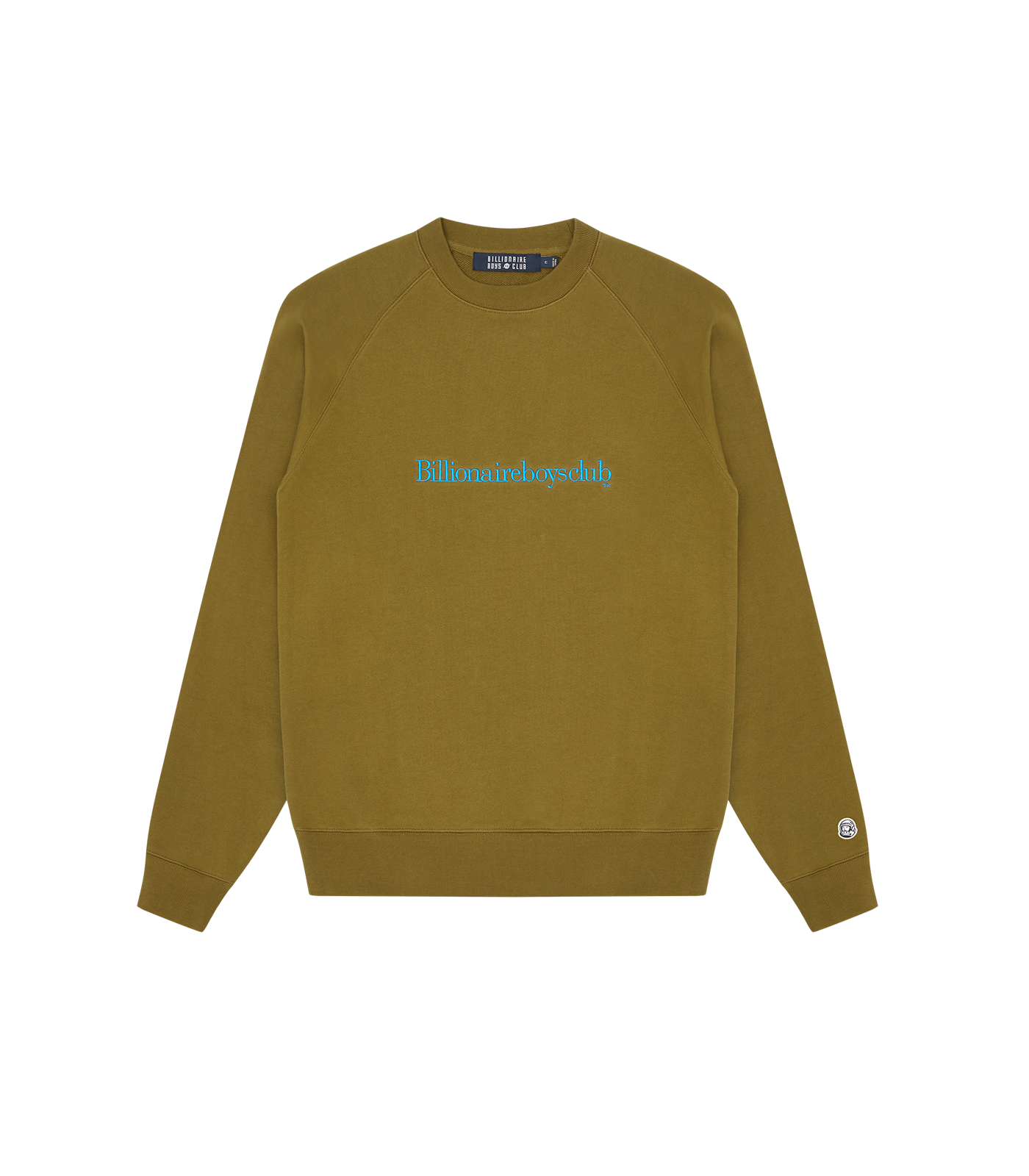 EMBROIDERED LOGO CREWNECK - KHAKI