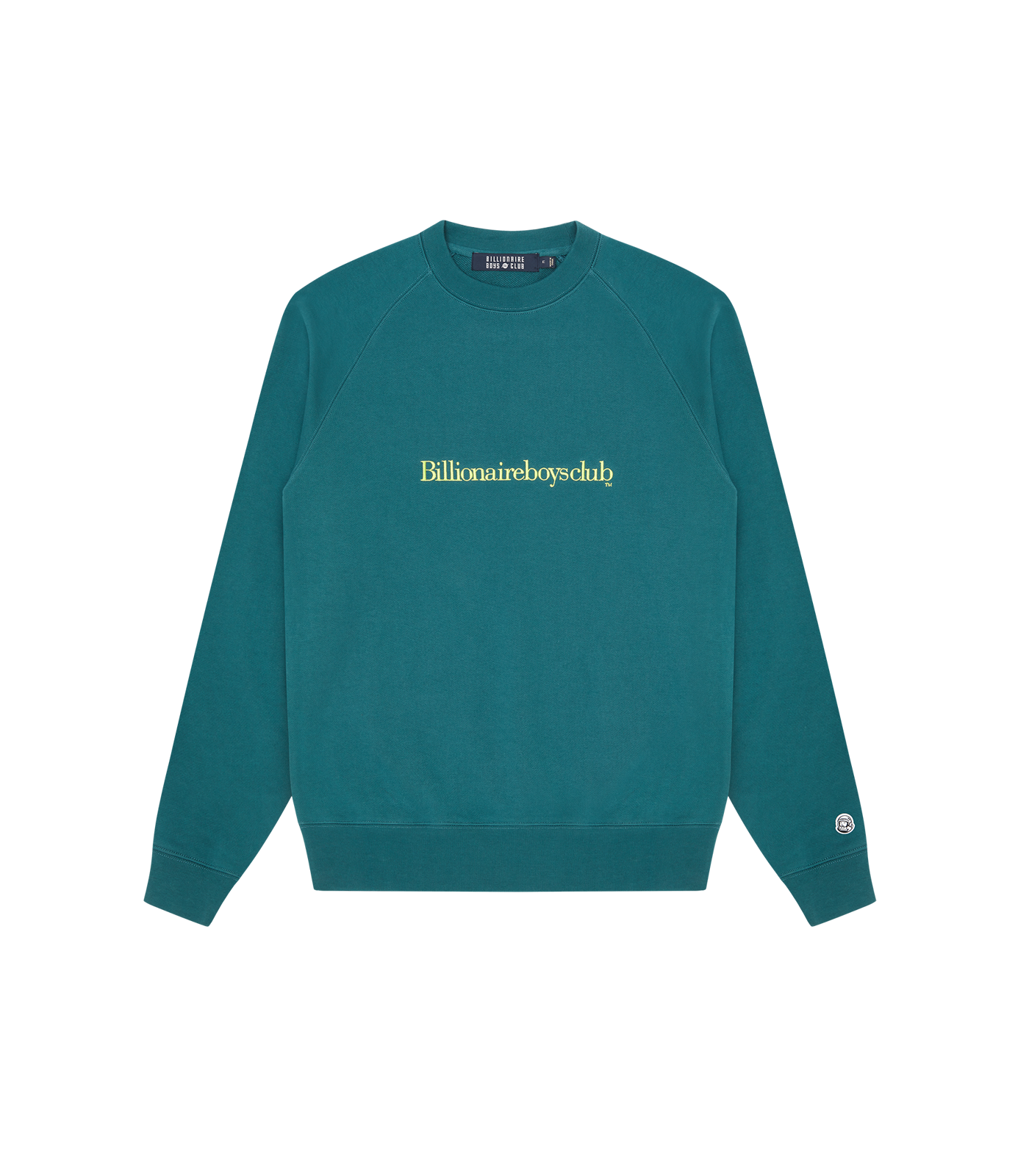 EMBROIDERED LOGO CREWNECK - MARINE GREEN