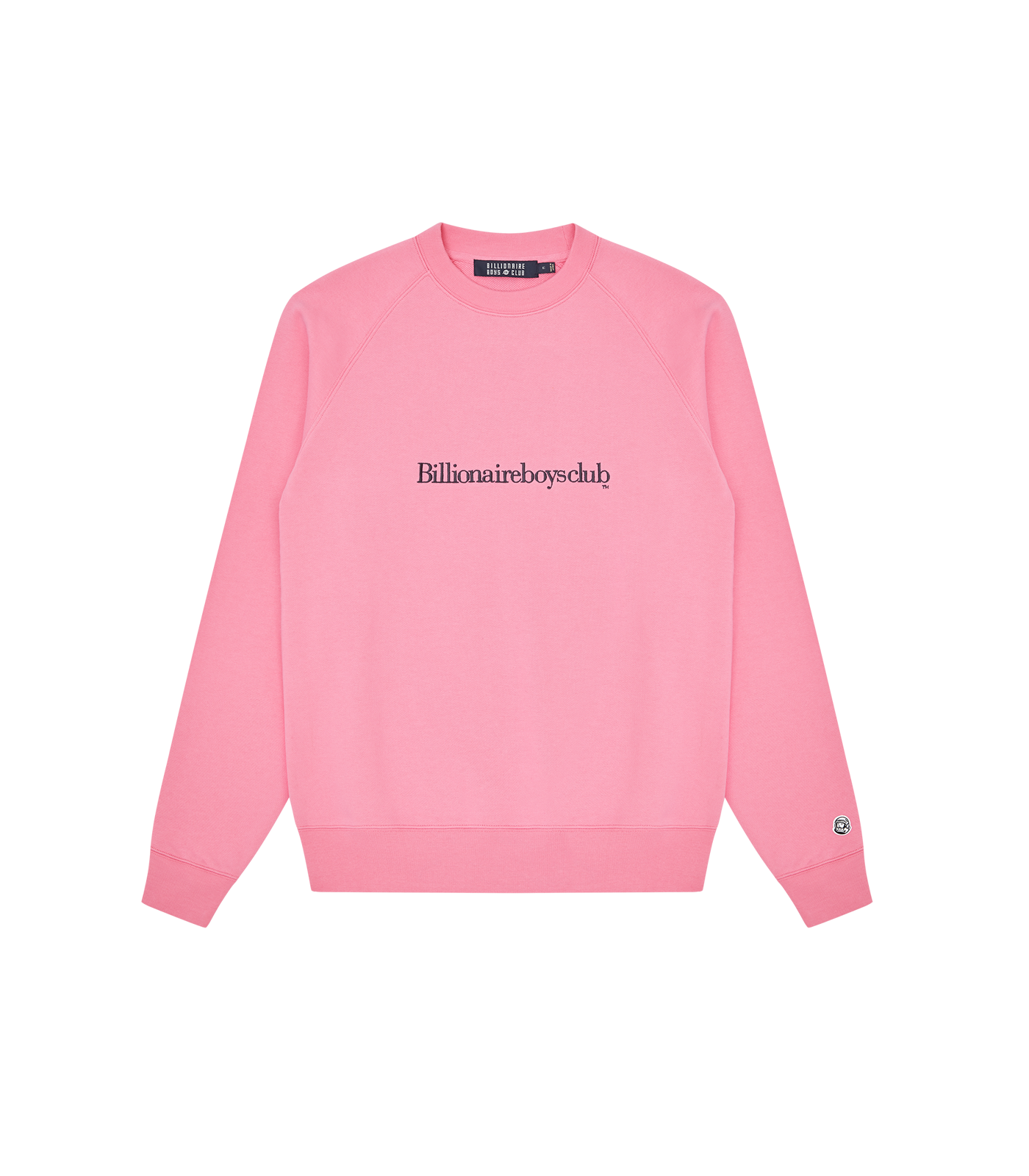 EMBROIDERED LOGO CREWNECK - PINK