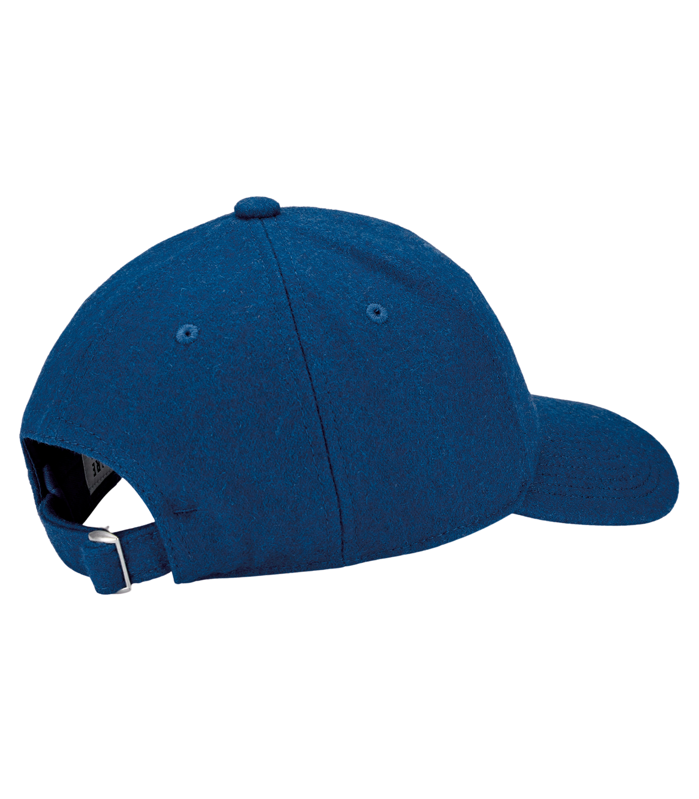 EMBROIDERED WOOL CURVED VISOR CAP - BLUE