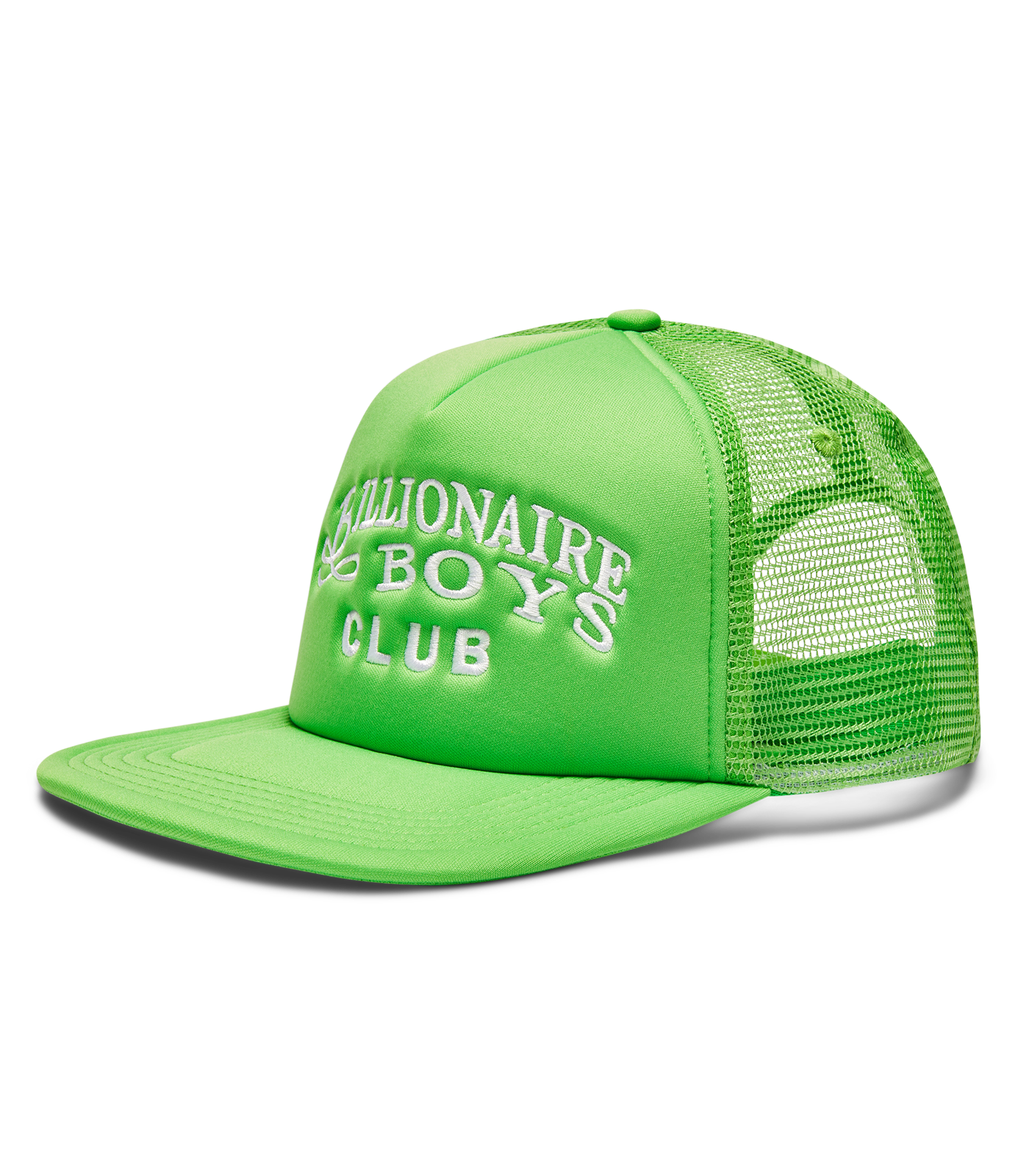 EMBROIDERED LOGO TRUCKER - LIME