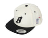 Billionaire Boys Club FLYING B SNAPBACK HAT - OFF WHITE/BLACK