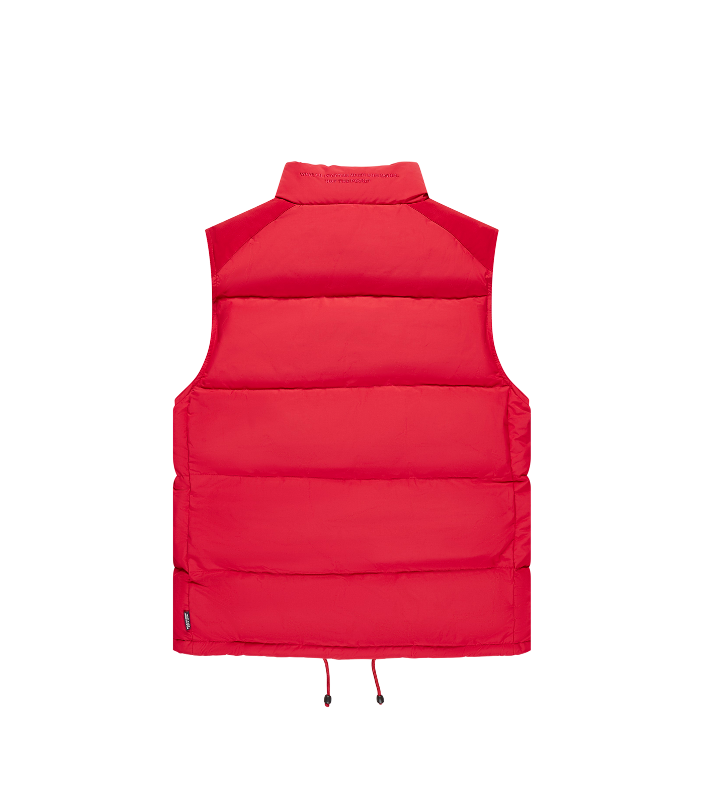 CONTRAST SHELL DOWN GILET - RED