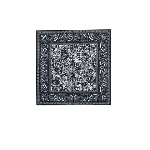 Billionaire Boys Club Pre-Spring '18 HEBRU ALLOVER BANDANA - BLACK