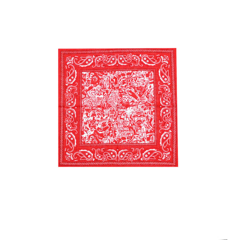 Billionaire Boys Club Pre-Spring '18 HEBRU ALLOVER BANDANA - RED