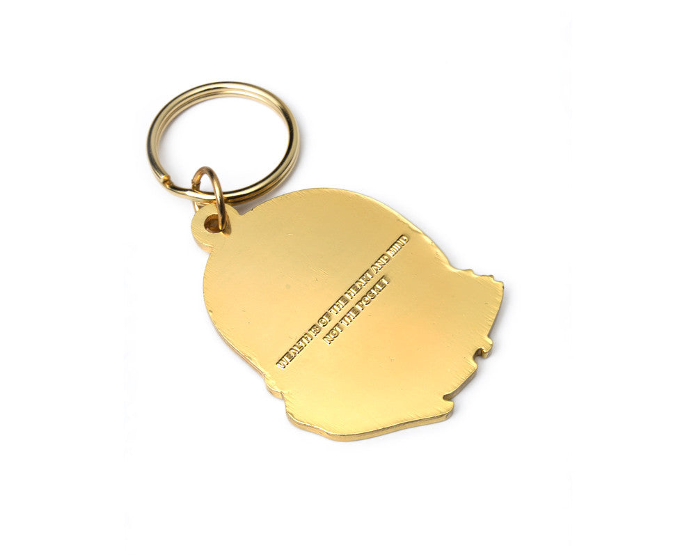 Billionaire Boys Club HELMET HEAD KEY CHAIN - GOLD
