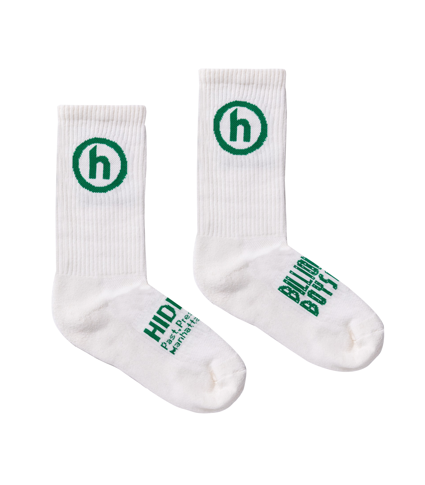 HIDDEN.NY SOCKS - NATURAL/GREEN