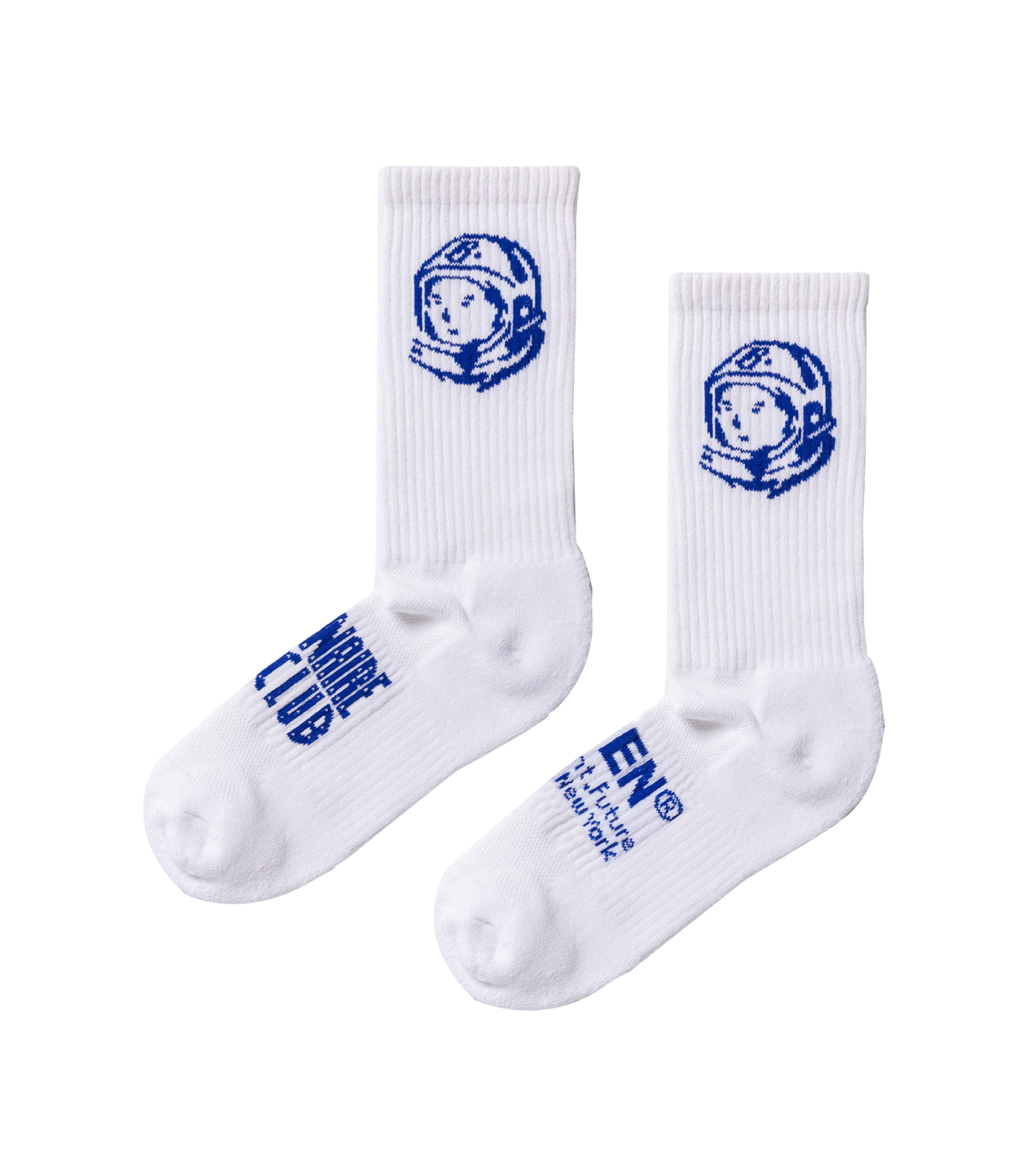 HIDDEN.NY SOCKS - WHITE/BLUE