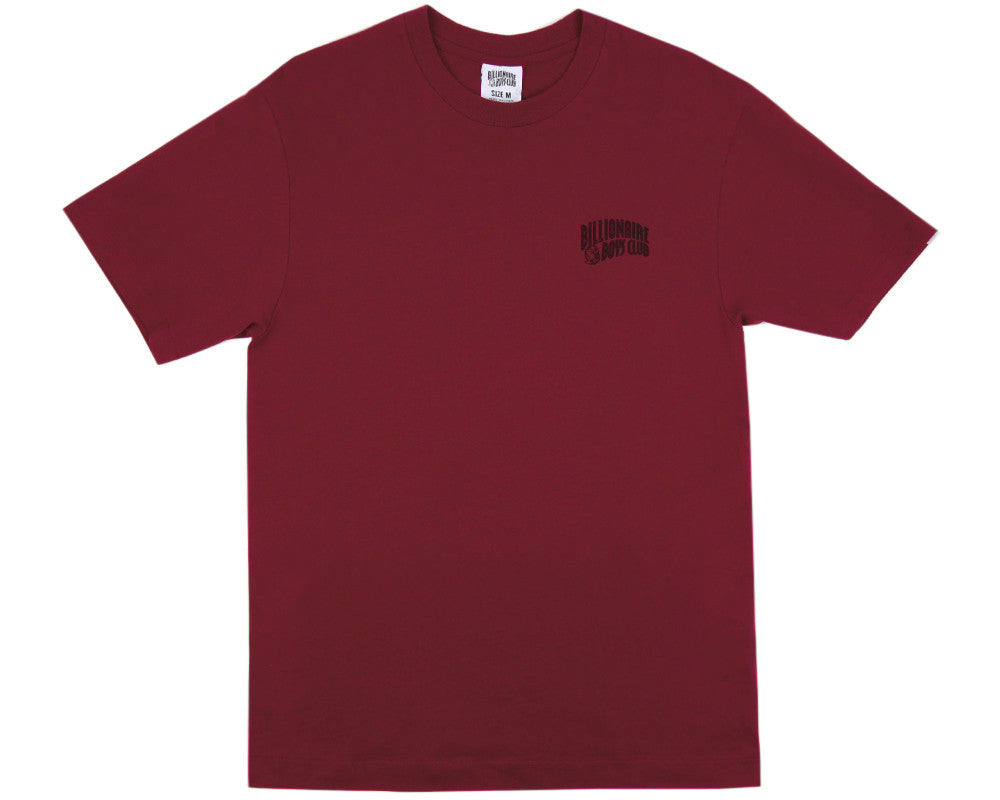 Billionaire Boys Club Fall '16 SMALL ARCH LOGO T-SHIRT - BURGUNDY