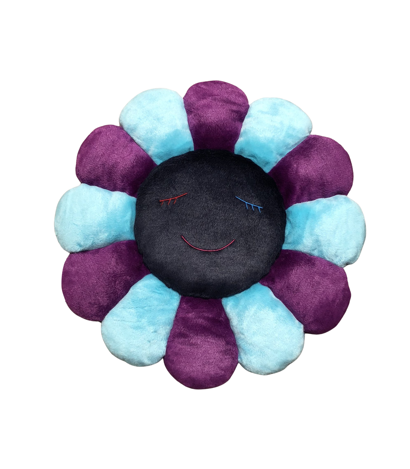 MURAKAMI FLOWER CUSHION 1M - BLUE PURPLE & NAVY