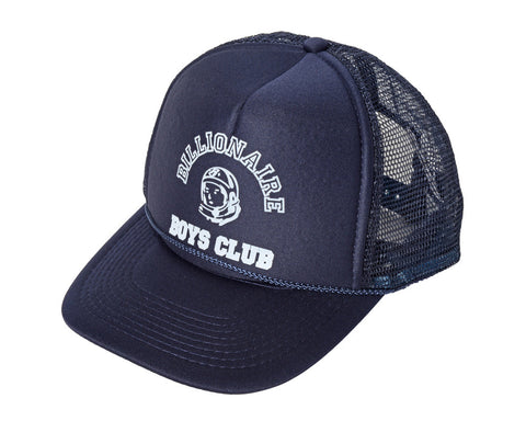 Billionaire Boys Club EU College Logo Trucker Hat - Navy