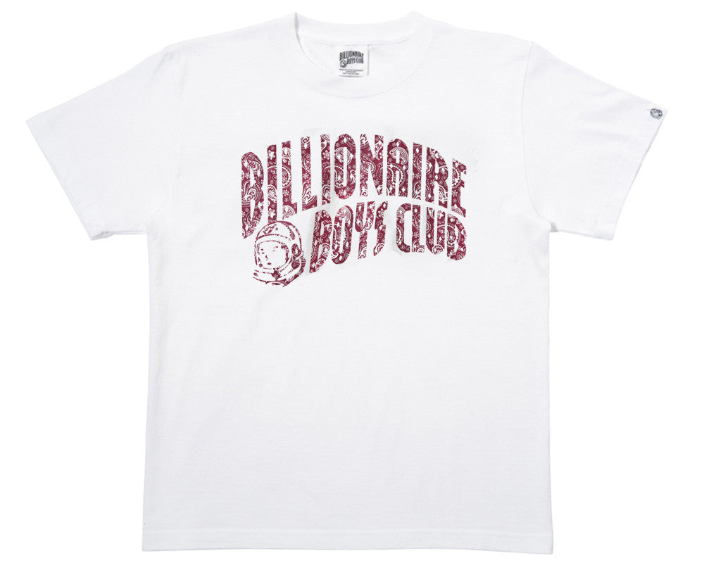 Billionaire Boys Club PAISLEY CURVE LOGO T-SHIRT - WHITE