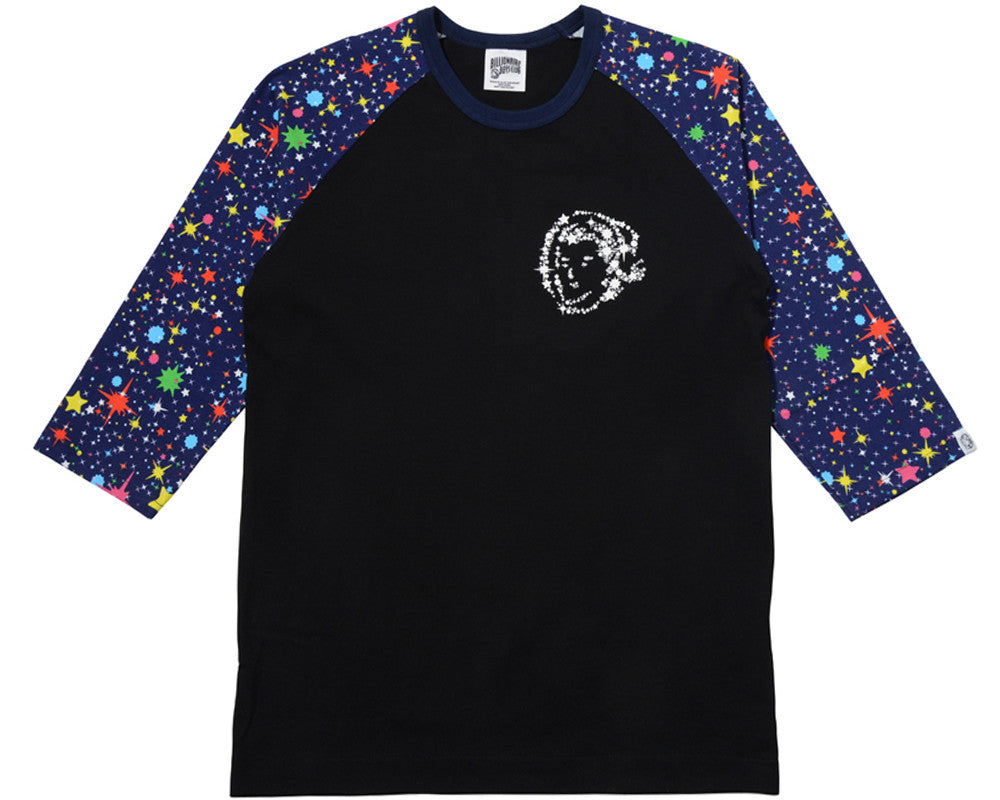 Billionaire Boys Club STARFIELD RAGLAN T-SHIRT - BLACK/MULTI