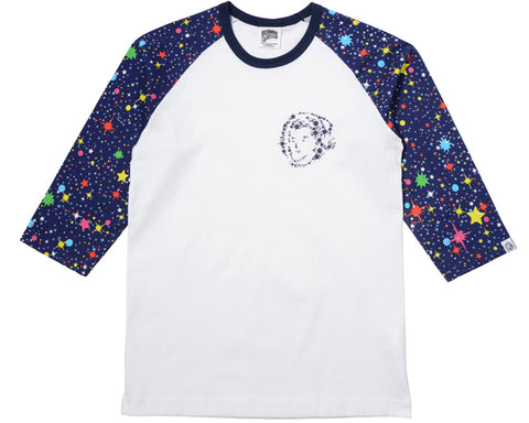 Billionaire Boys Club STARFIELD RAGLAN T-SHIRT - WHITE/MULTI