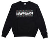 Billionaire Boys Club SLJ LOGO CREWNECK - BLACK
