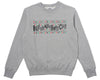 Billionaire Boys Club SLJ LOGO CREWNECK - GREY