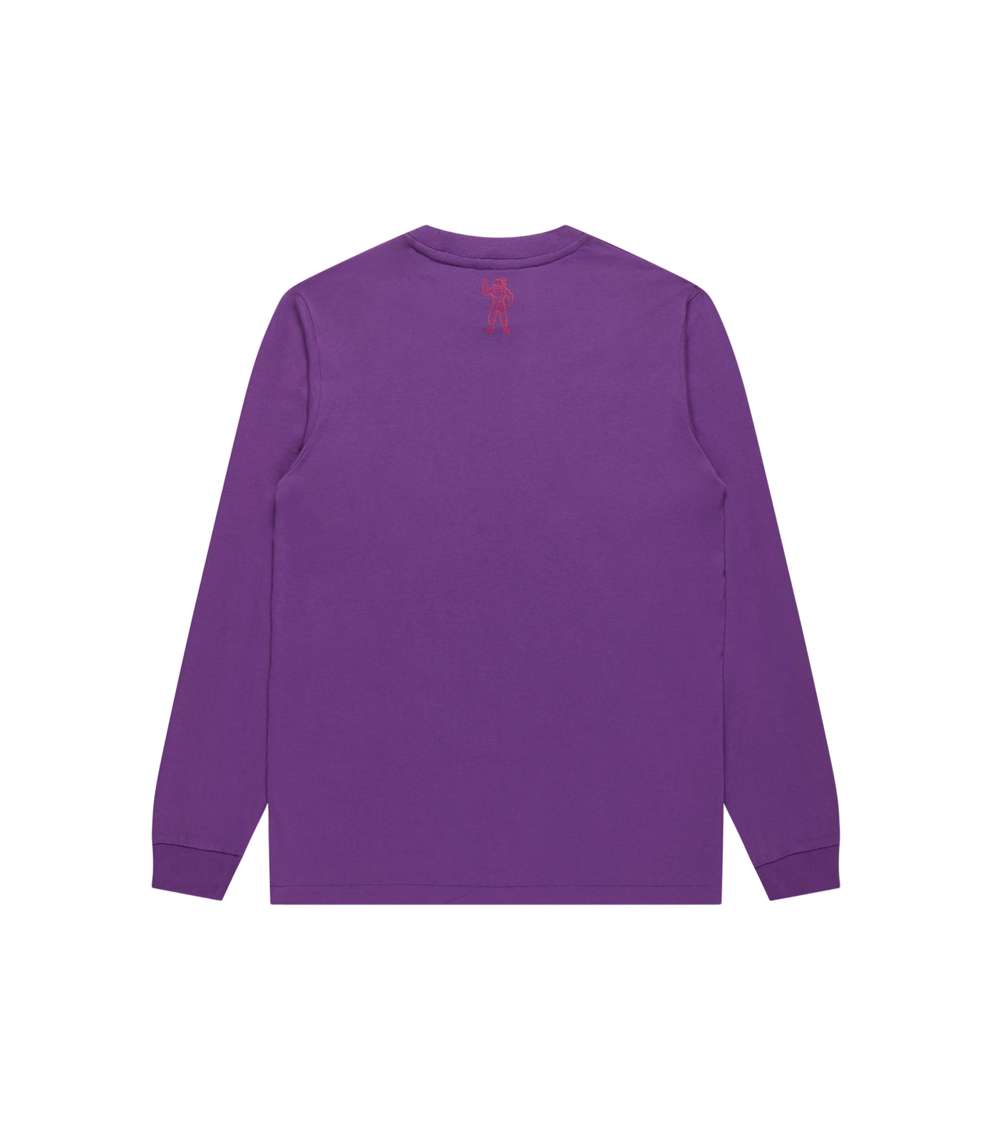 STRAIGHT LOGO L/S T-SHIRT - PURPLE