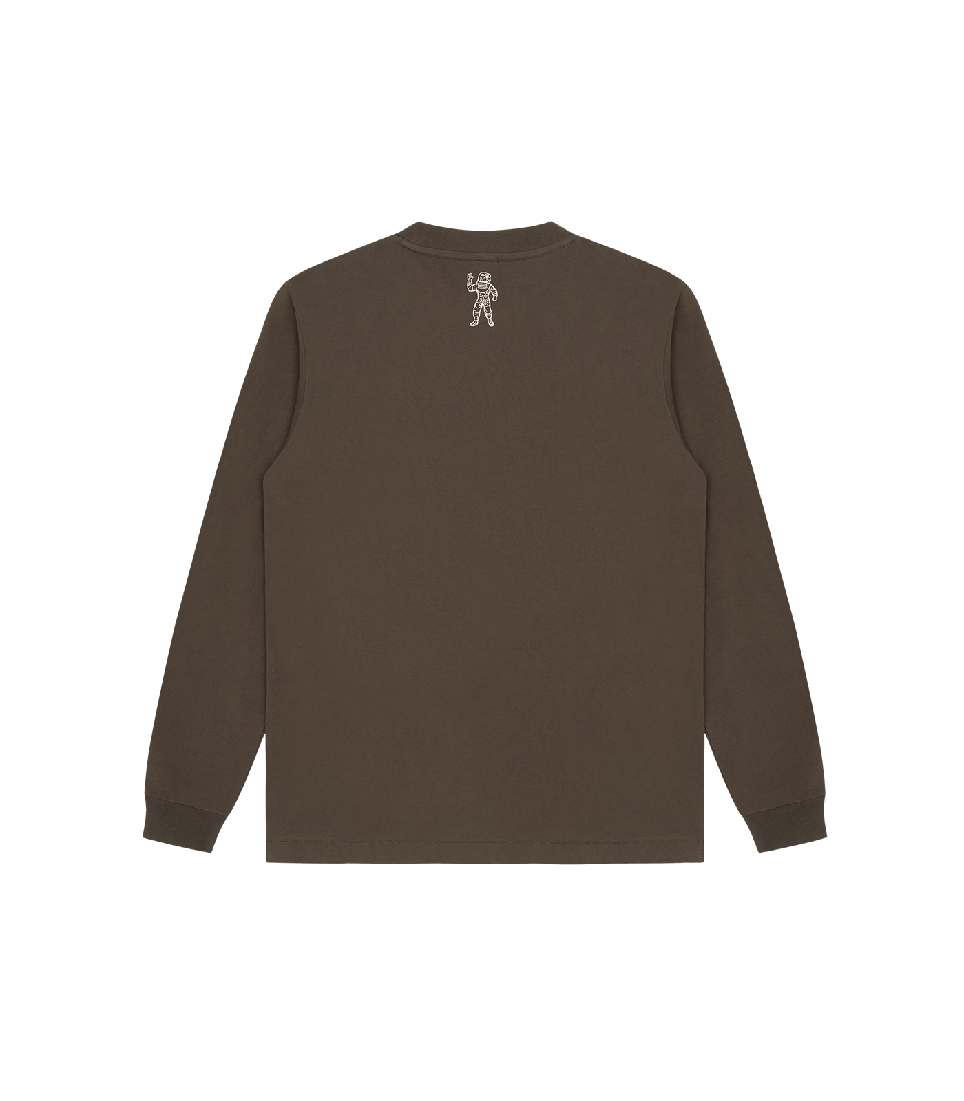 STRAIGHT LOGO L/S T-SHIRT - BROWN