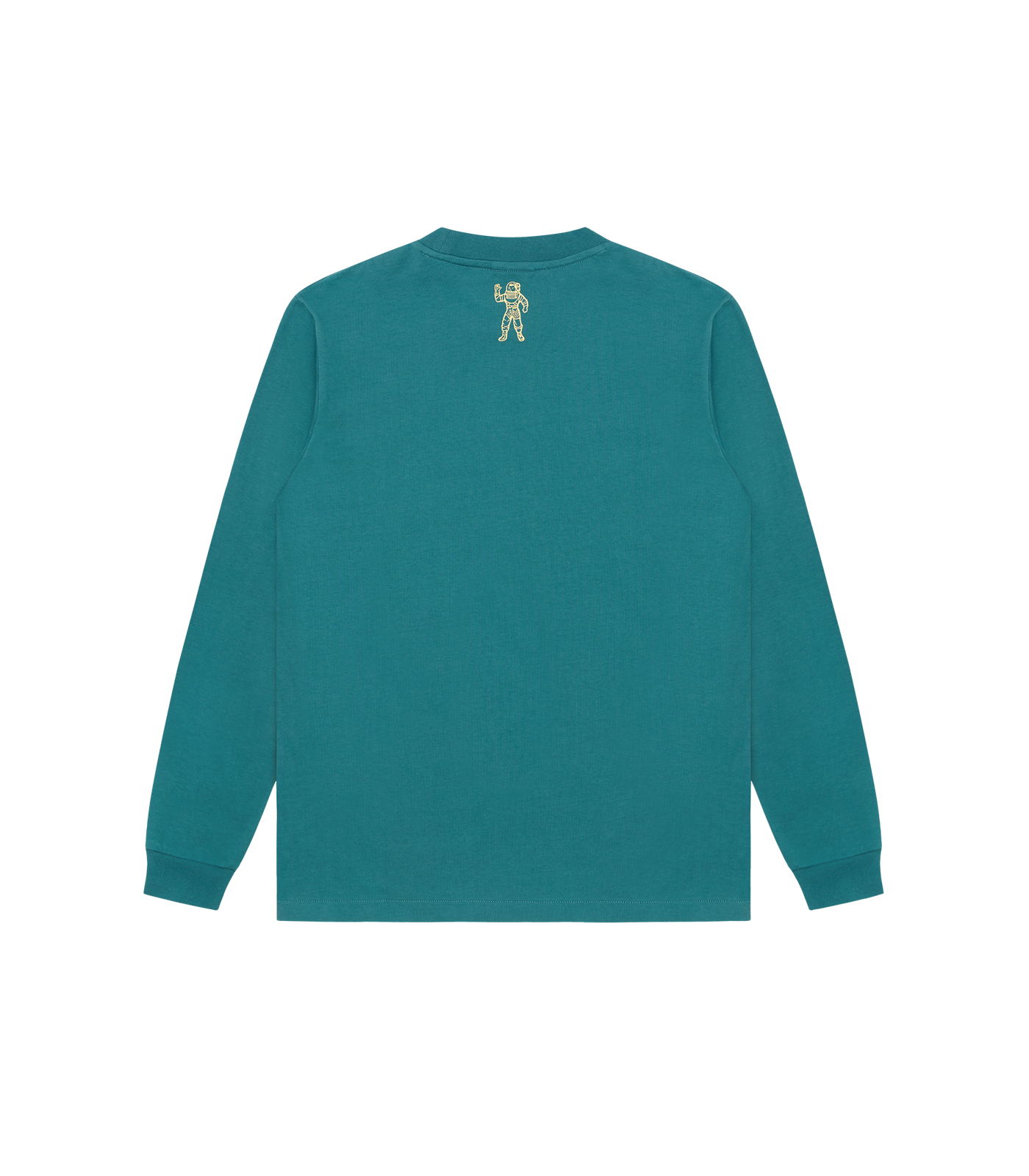 STRAIGHT LOGO L/S T-SHIRT - MARINE GREEN