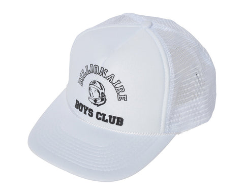 Billionaire Boys Club EU College Logo Trucker Hat - White