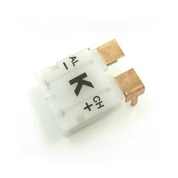 K-Type Female Flat Connector PCB, White Connector, Tilt View