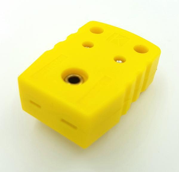 K-Type Female Flat Connector, Yellow Device, Side View