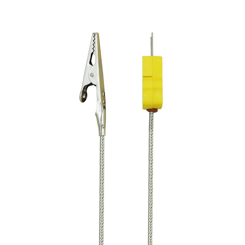 K-Type Alligator Clip Metal Head Probe 500 °C, Silver Probe, side of product