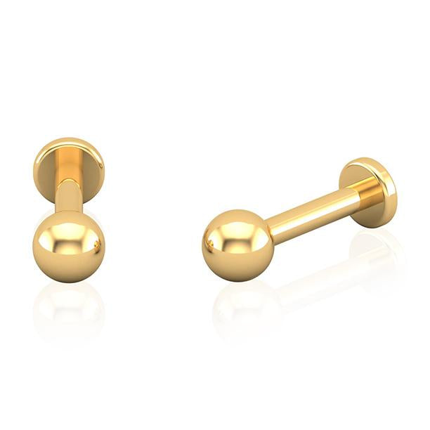 1.6mm Gold Titanium Labret Bar Wholesale Piercing Jewellery UK