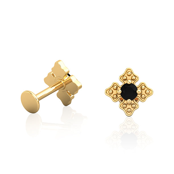 14kt Gold Cross Patonce Earring Wholesale Piercing Jewellery UK