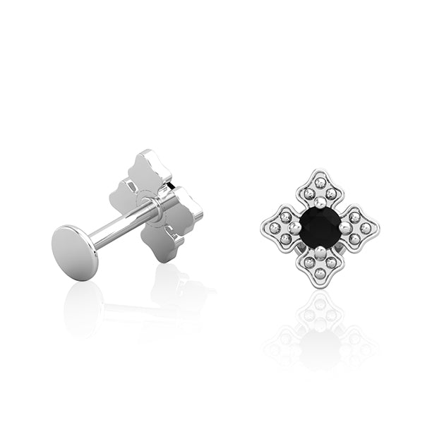 14kt White Gold Cross Patonce Earring Wholesale Piercing Jewellery UK