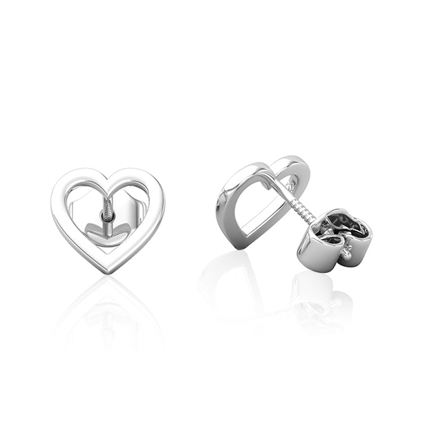 14kt White Gold Heart Earring Wholesale Piercing Jewellery UK
