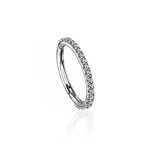 14kt White Gold Pavé Huggie Earring Wholesale Piericng Jewellery UK