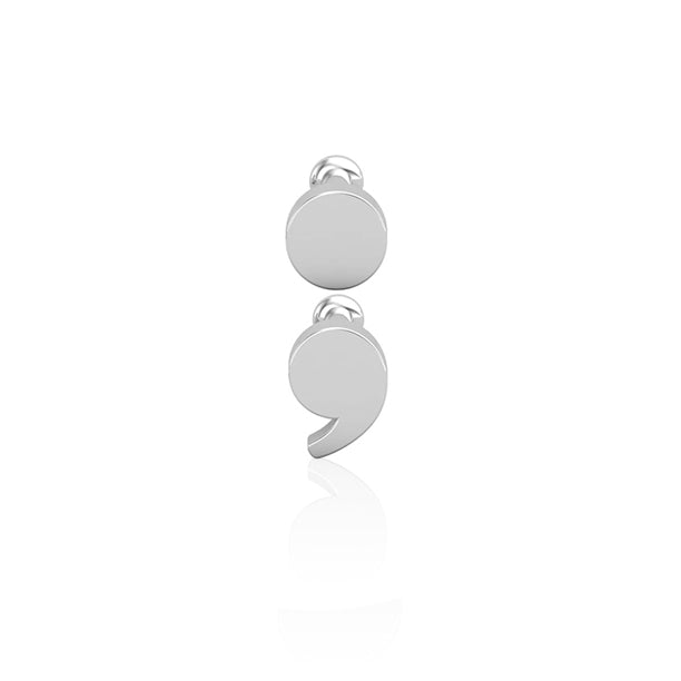 18kt White Gold Semicolon Wholesale Piercing Jewellery UK